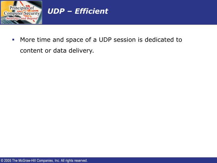 UDP – Efficient