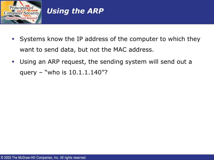 Using the ARP