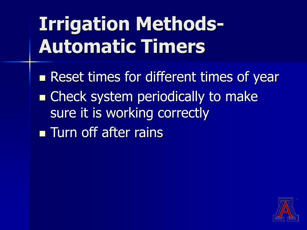 Irrigation Methods-Automatic Timers