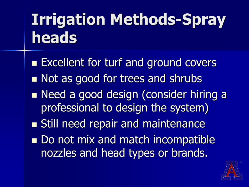 Irrigation Methods-Spray heads