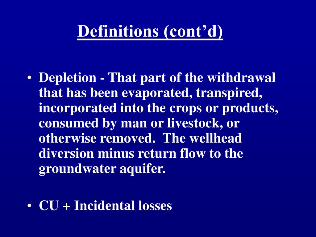 Definitions (cont'd)