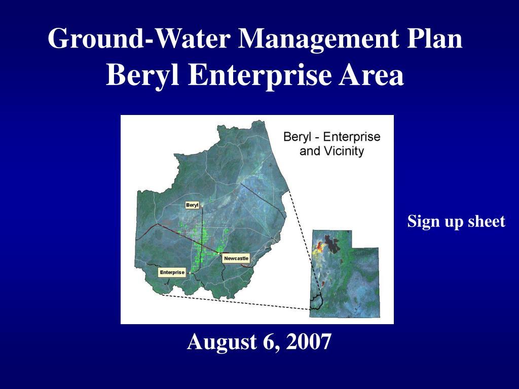 Ground-Water Management Plan