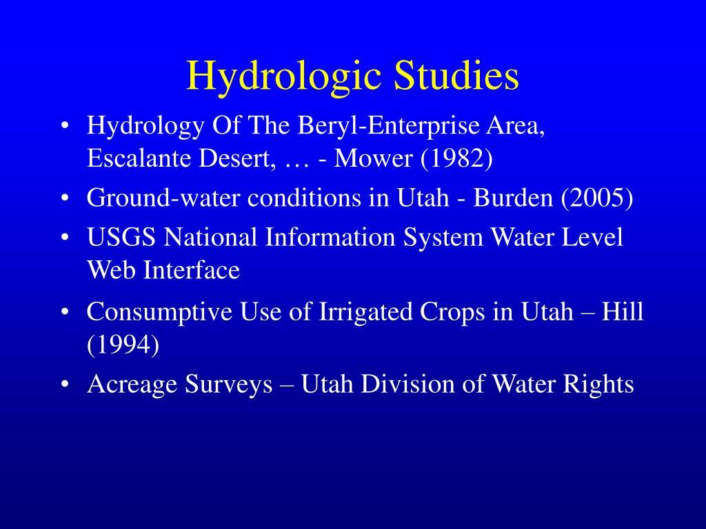 Hydrologic Studies