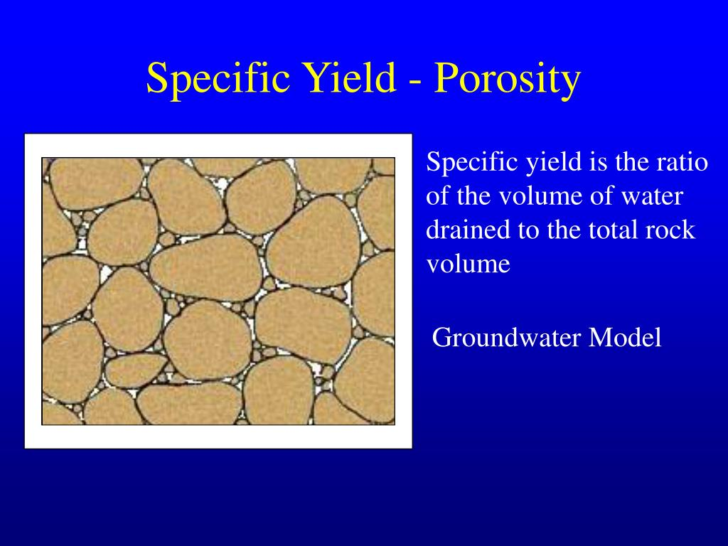 Specific Yield - Porosity