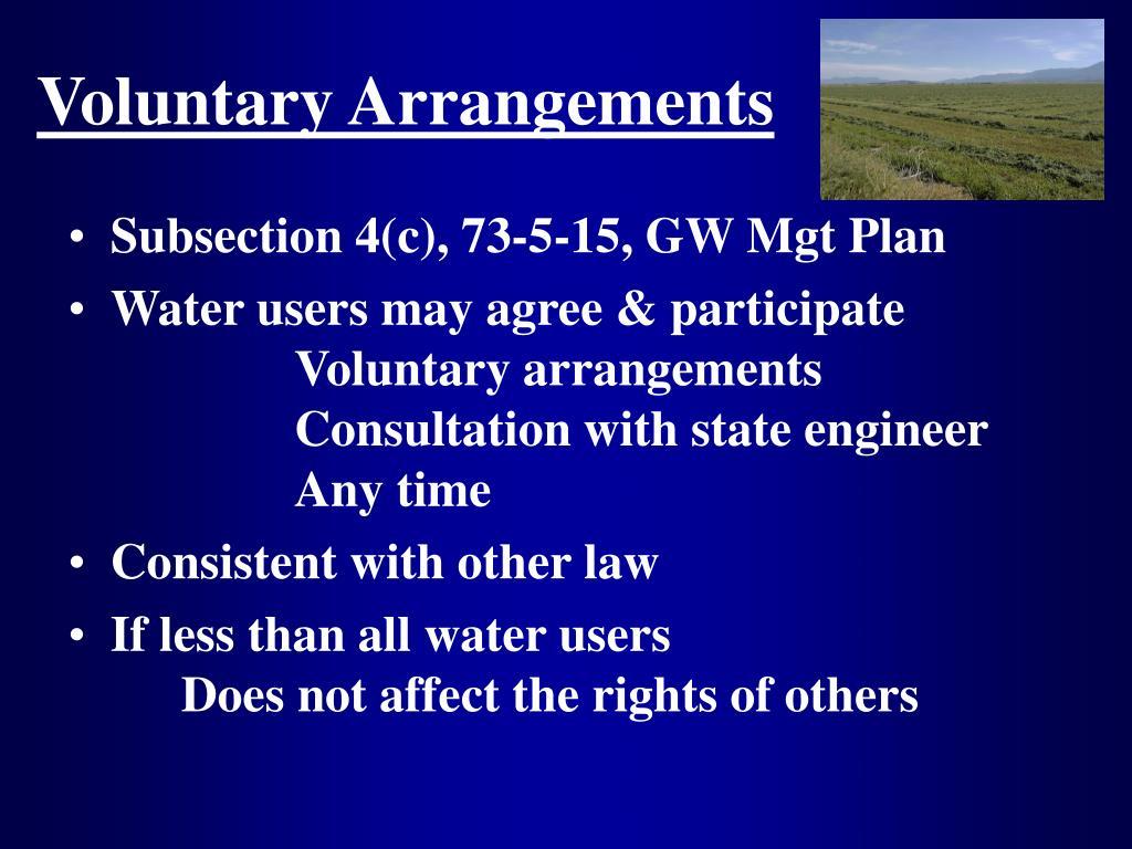 Voluntary Arrangements