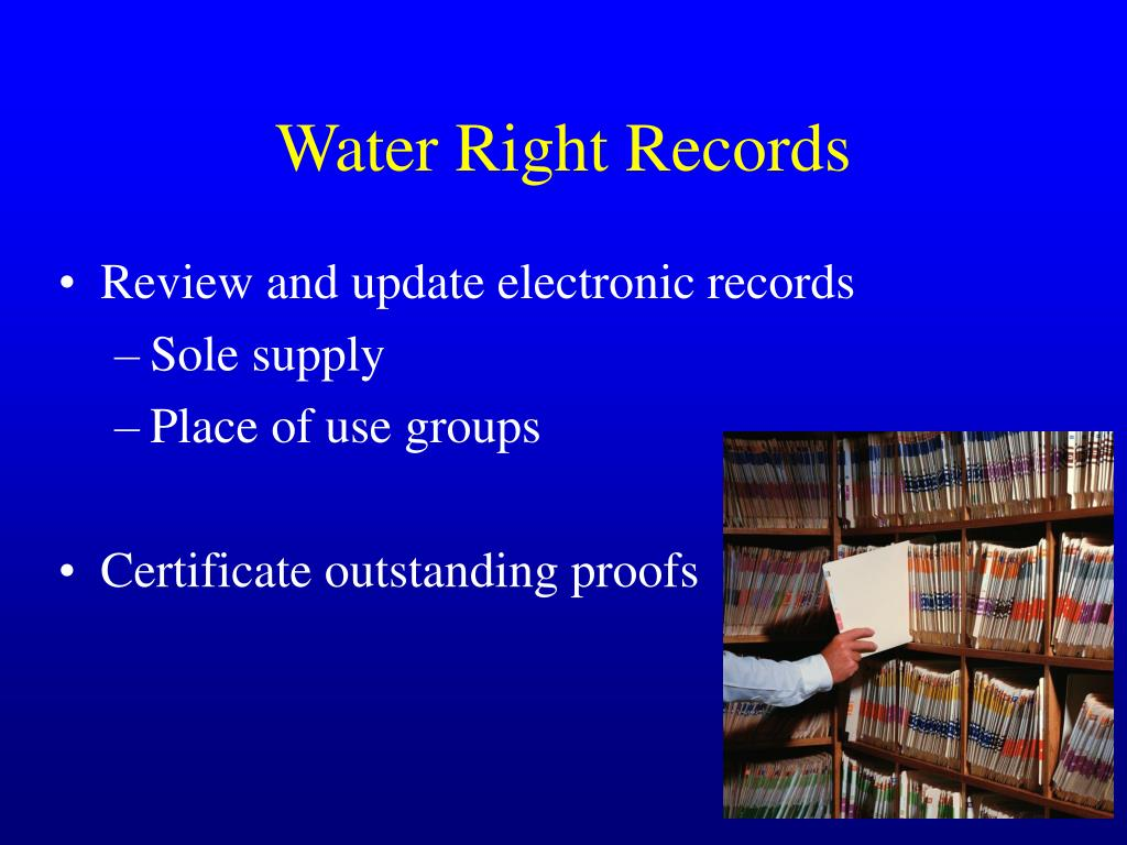 Water Right Records