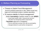 3 welfare planning as forecasting