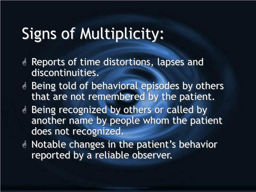 Signs of Multiplicity: