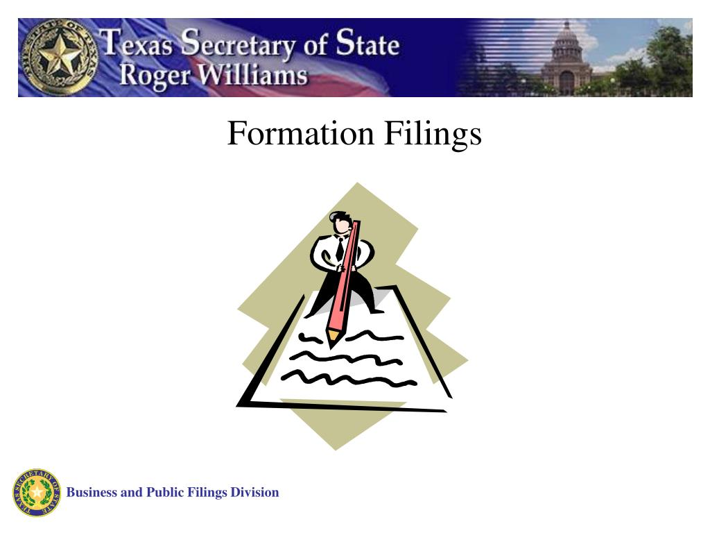 Formation Filings