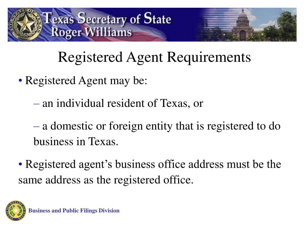 Registered Agent Requirements