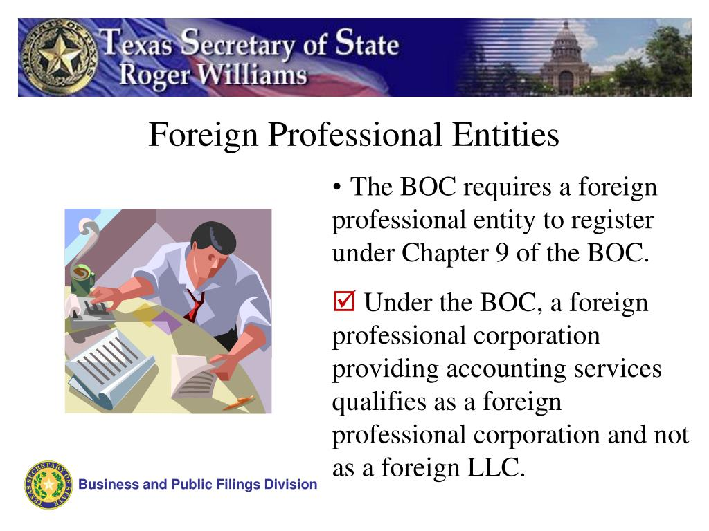 Foreign Professional Entities