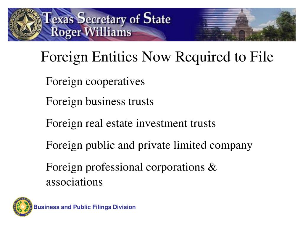 Foreign Entities Now Required to File