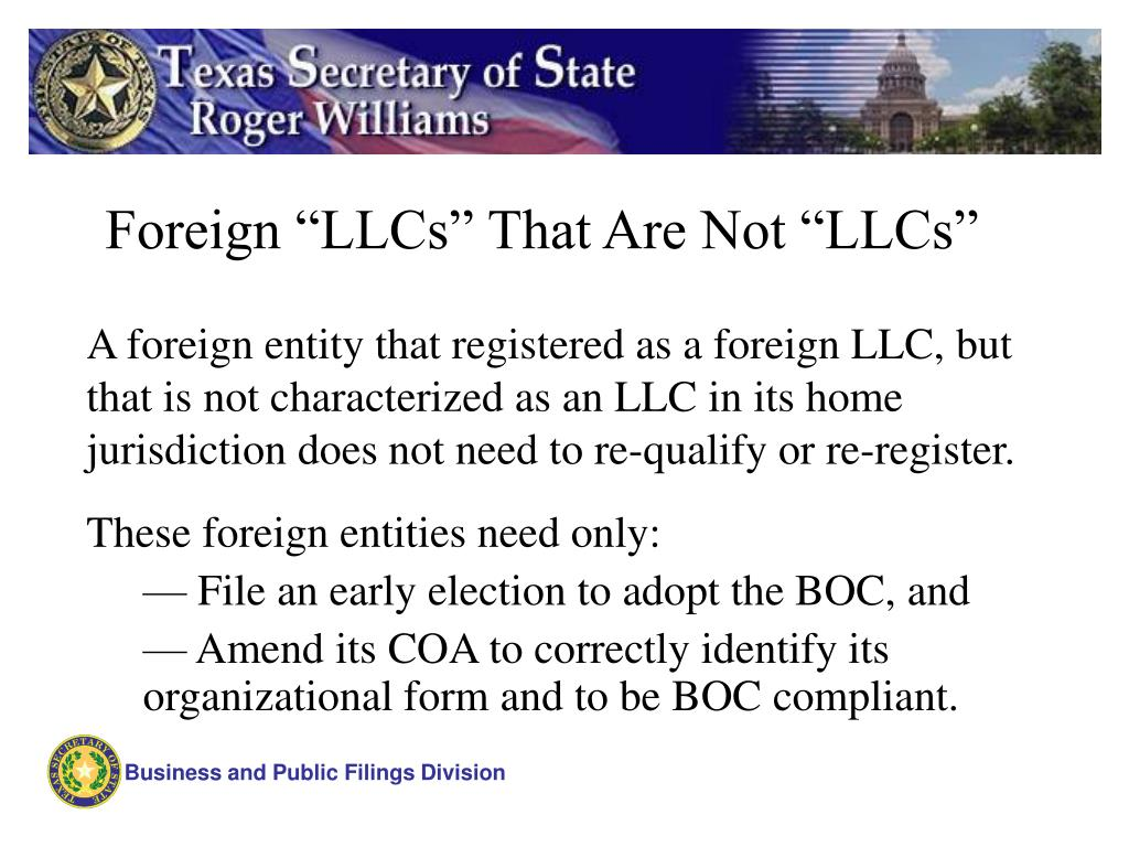 "Foreign ""LLCs"" That Are Not ""LLCs"""