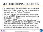 jurisdictional question
