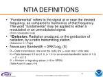 ntia definitions