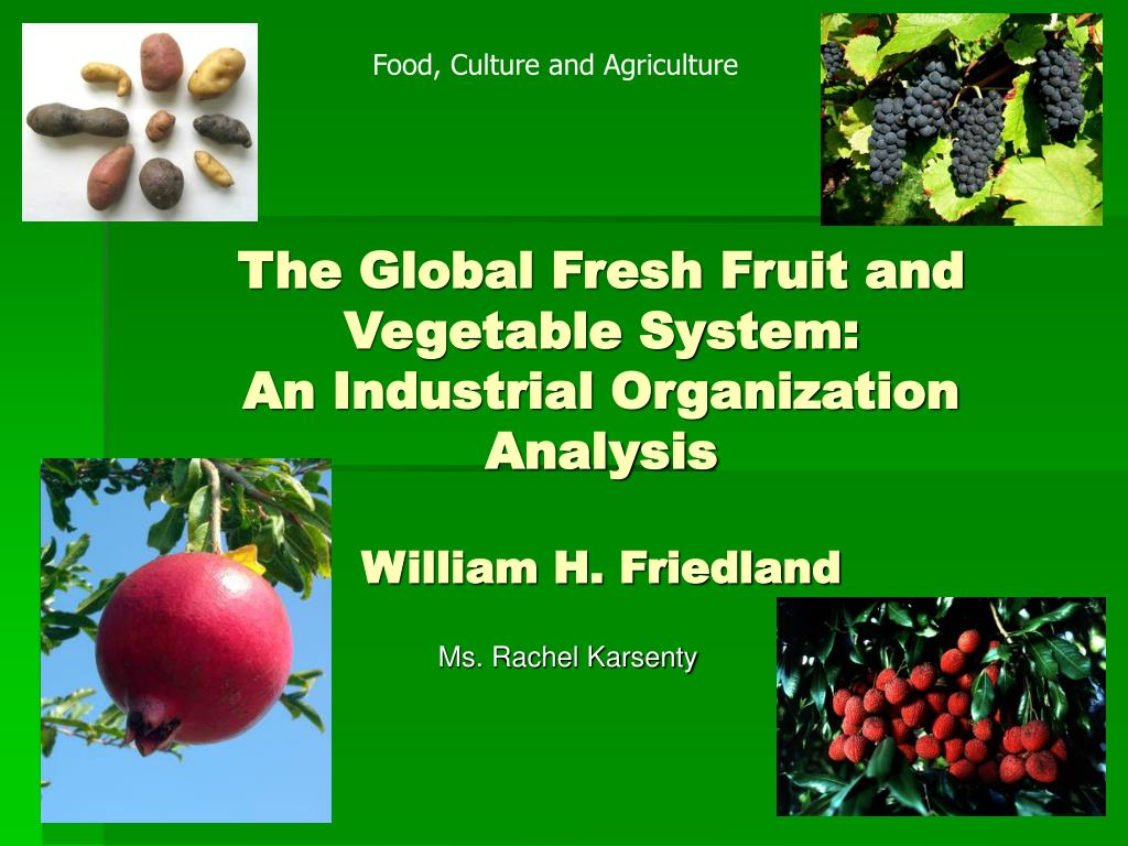 Food, Culture and Agriculture