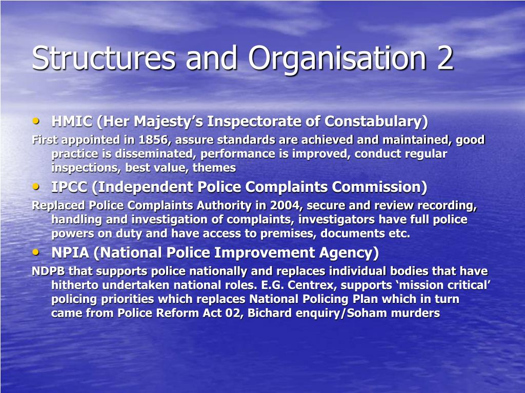 Structures and Organisation 2
