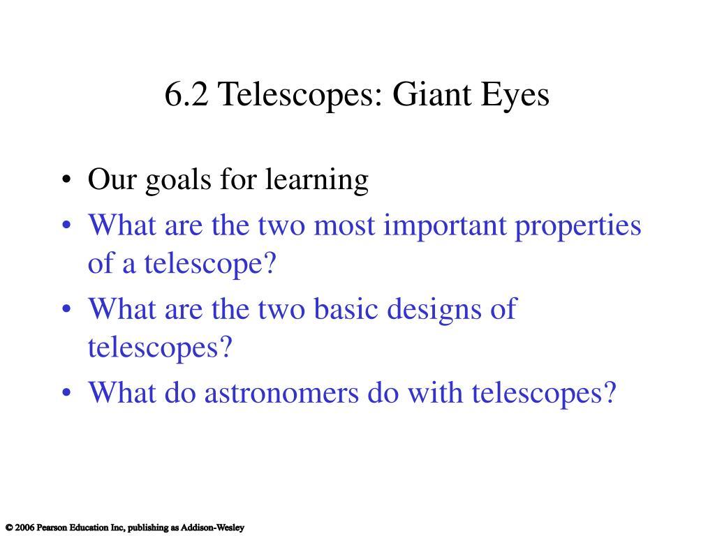 6.2 Telescopes: Giant Eyes