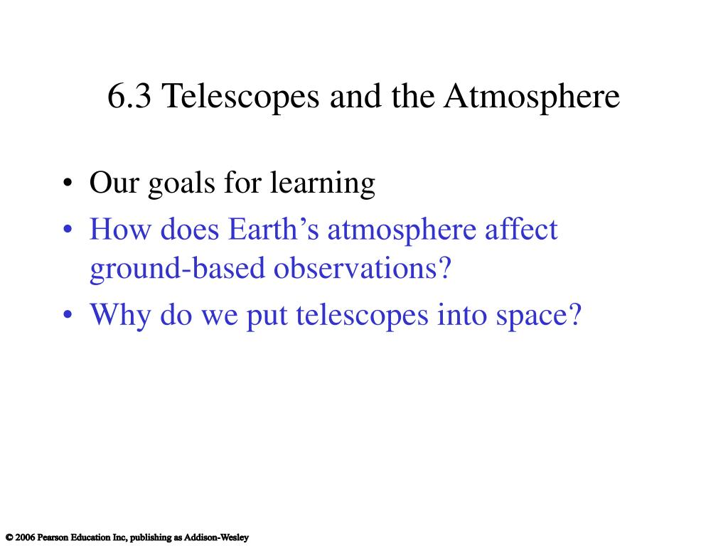 6.3 Telescopes and the Atmosphere