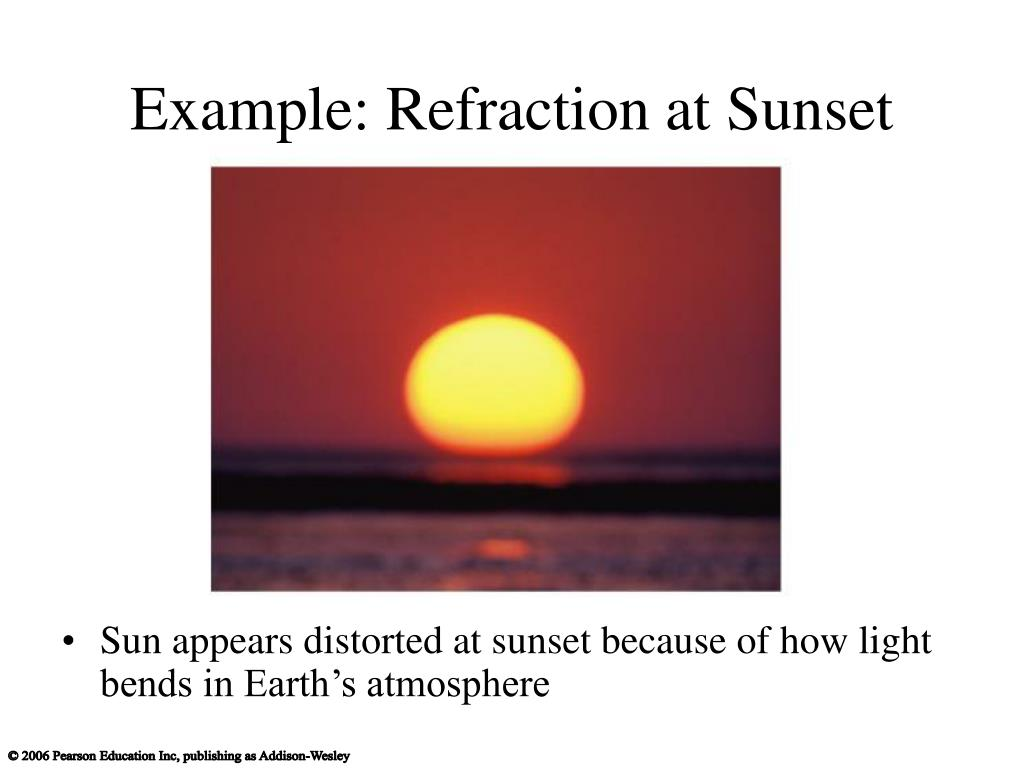 Example: Refraction at Sunset