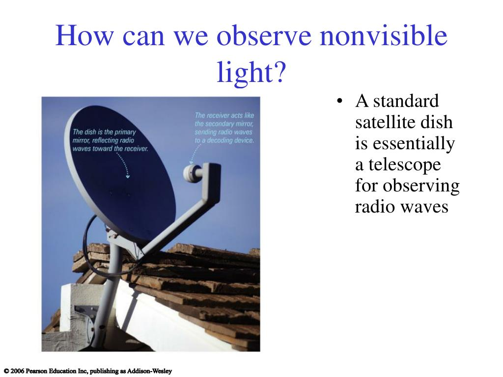 How can we observe nonvisible light?
