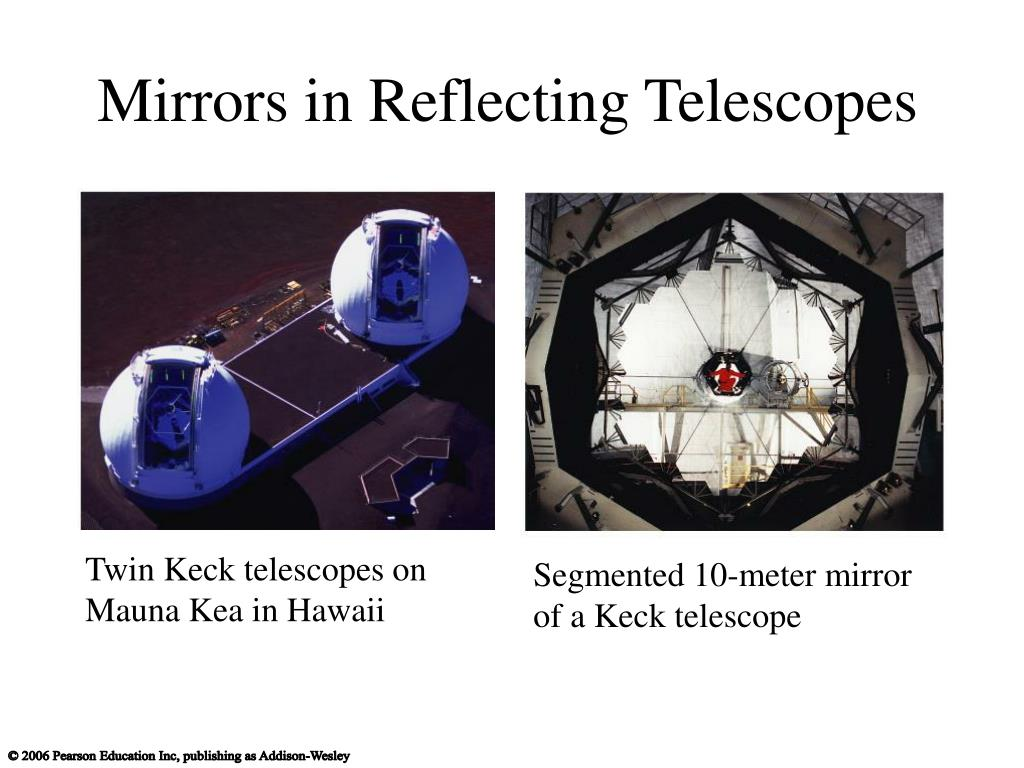Mirrors in Reflecting Telescopes