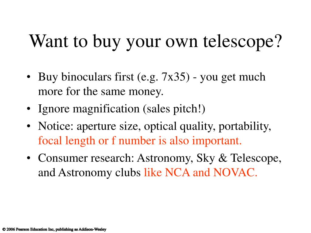 Want to buy your own telescope?