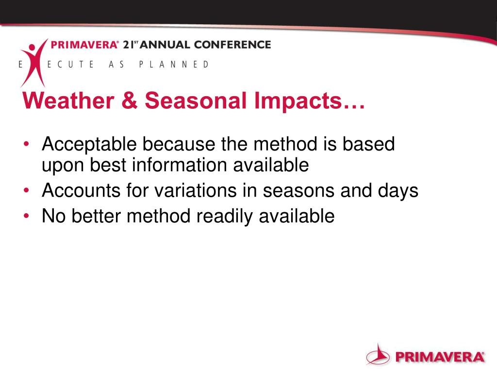 Weather & Seasonal Impacts…