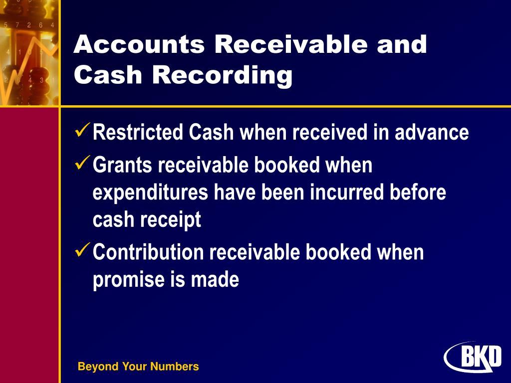 Accounts Receivable and Cash Recording