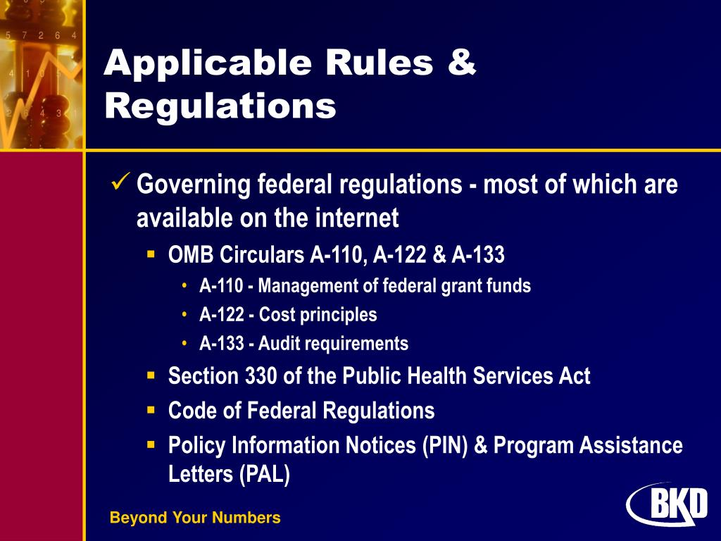 Applicable Rules & Regulations