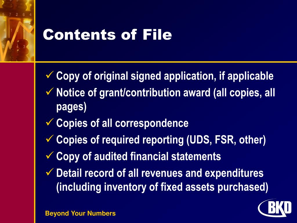 Contents of File