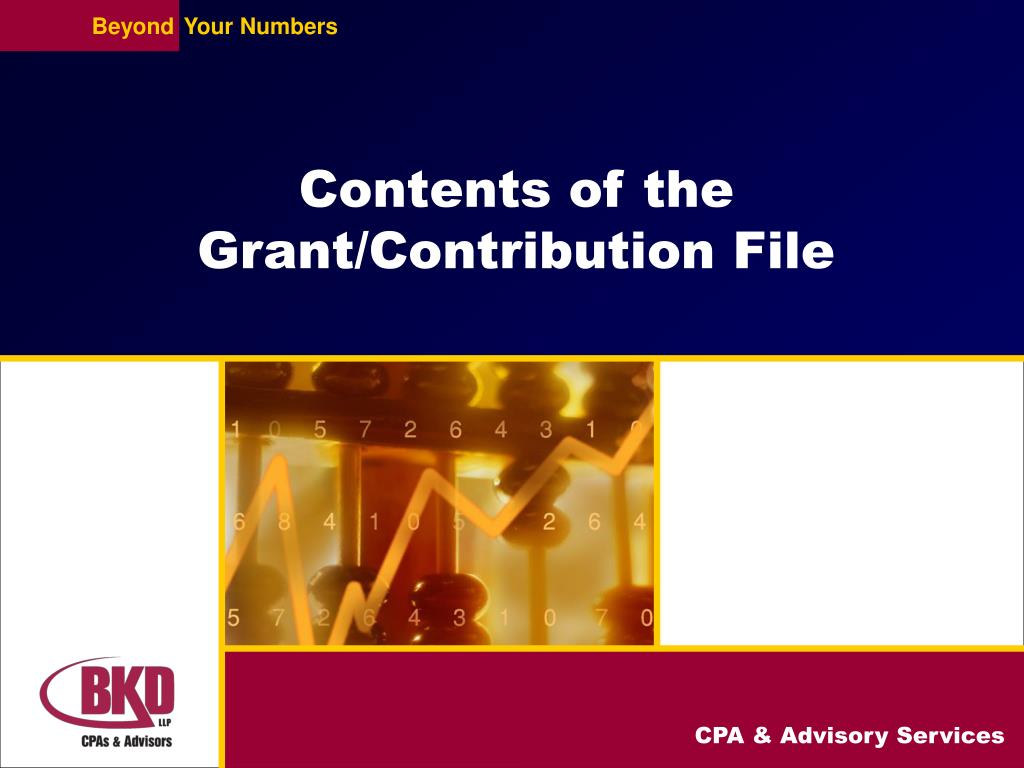 Contents of the Grant/Contribution File