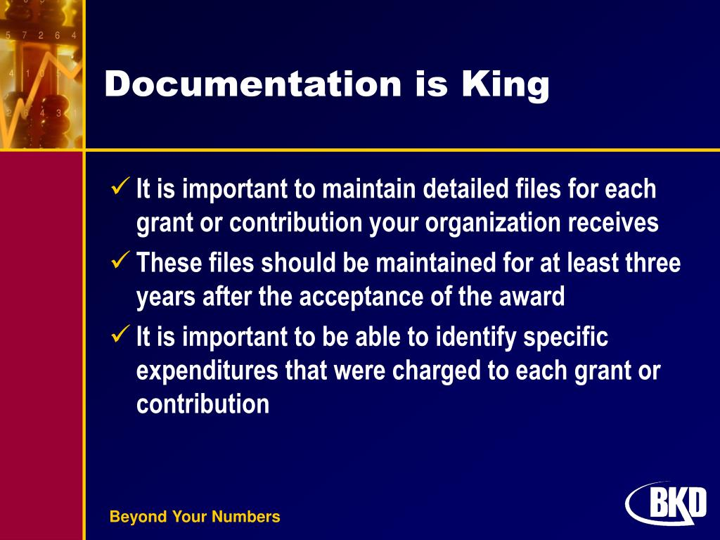 Documentation is King