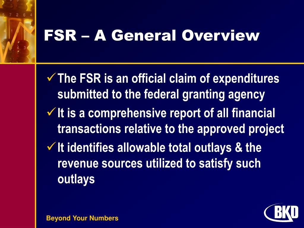 FSR – A General Overview