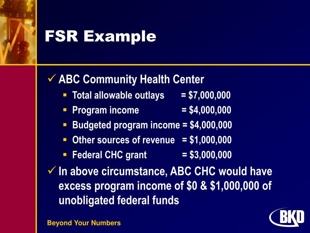 FSR Example