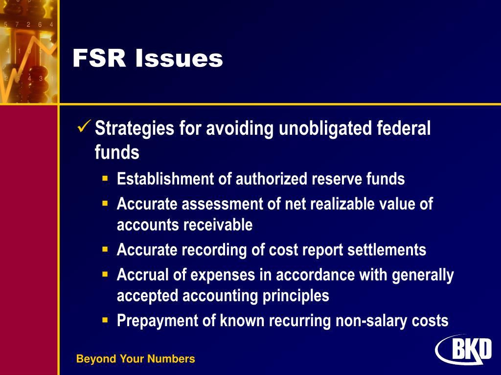 FSR Issues