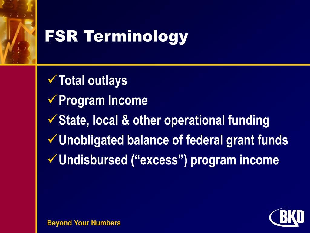 FSR Terminology