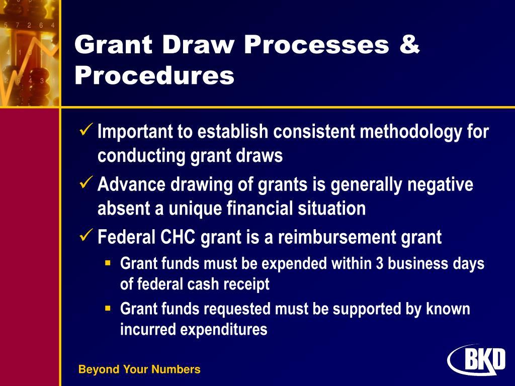 Grant Draw Processes & Procedures