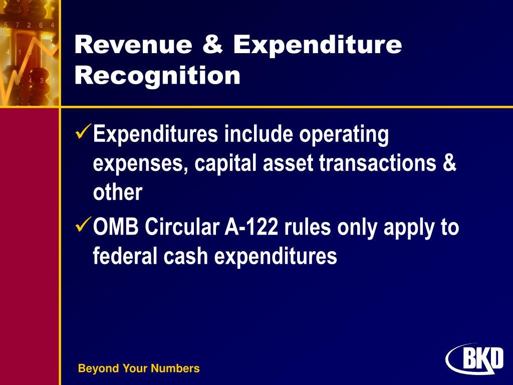 Revenue & Expenditure Recognition