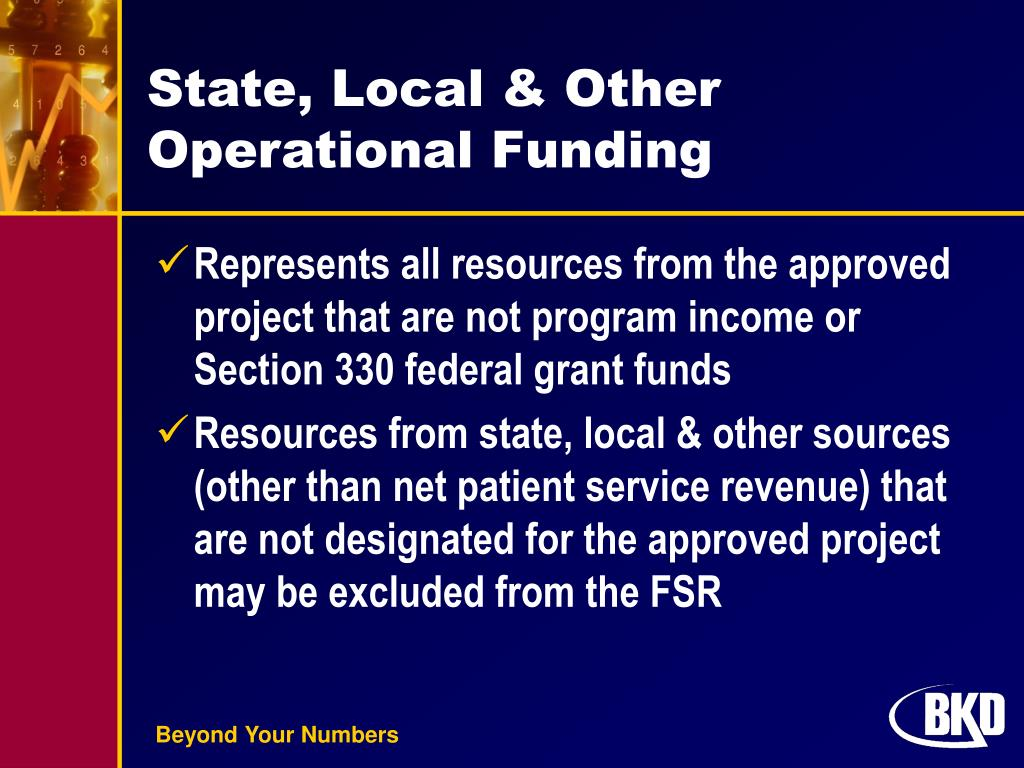State, Local & Other Operational Funding