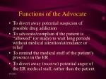 functions of the advocate