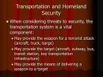 transportation and homeland security
