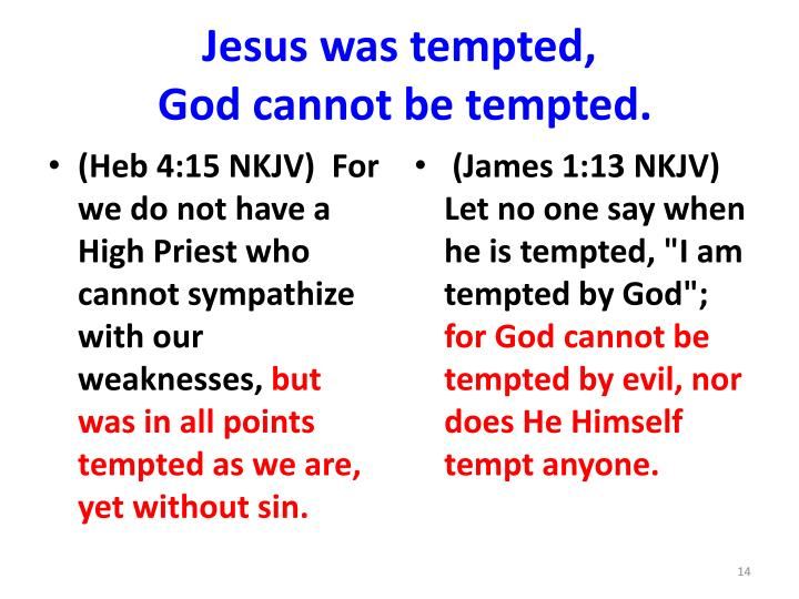 Jesus was tempted,
