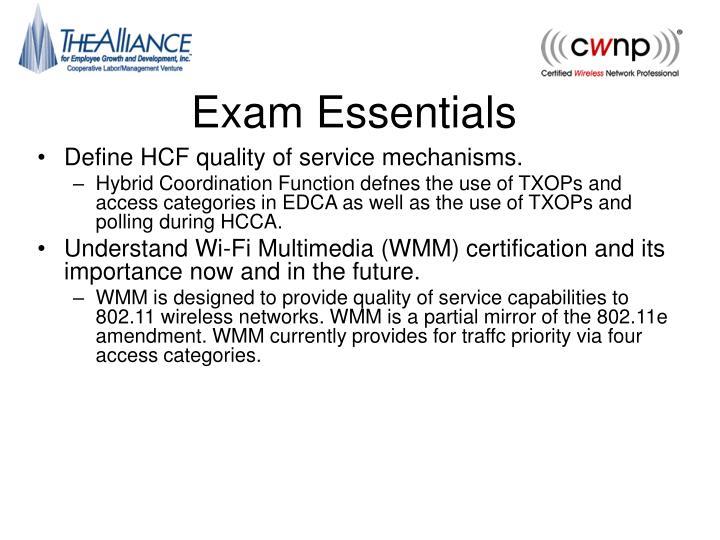 Exam essentials3
