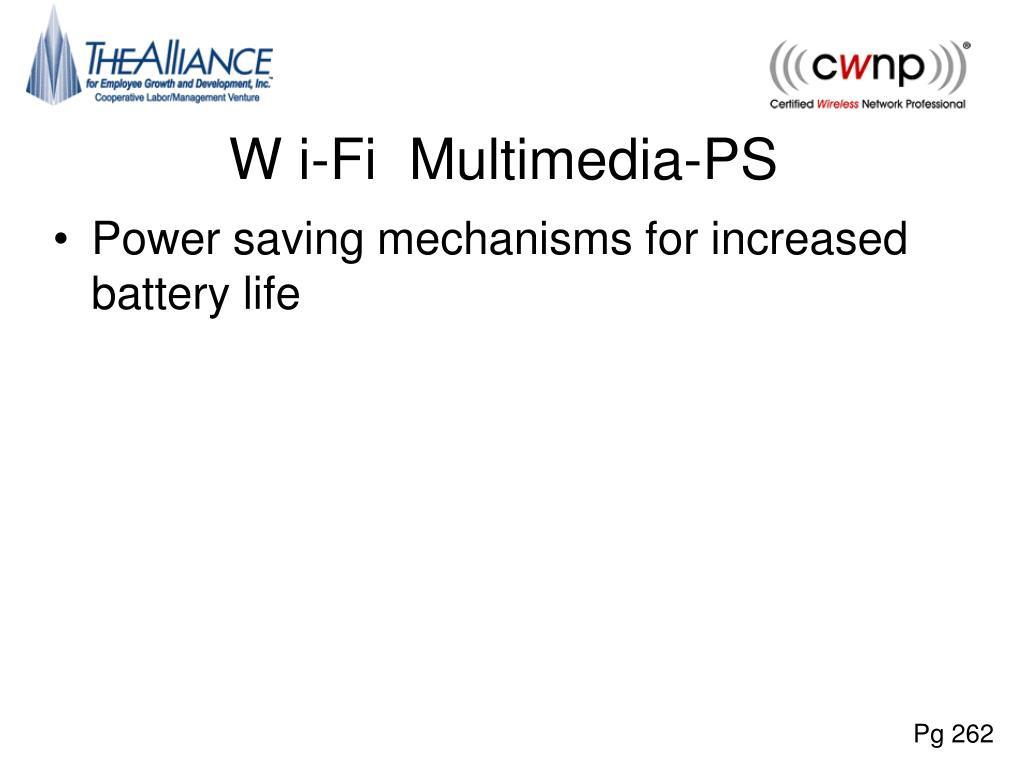 W i-Fi  Multimedia-PS