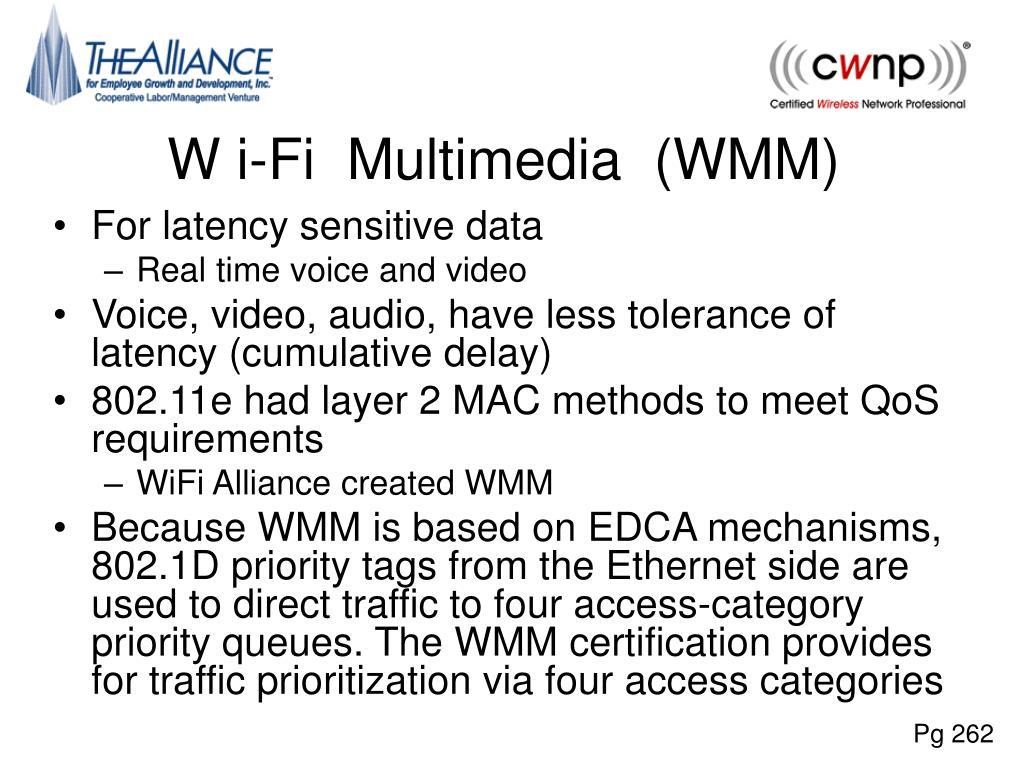 W i-Fi  Multimedia  (WMM)