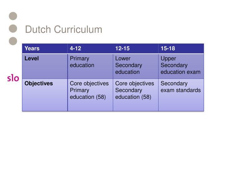 Dutch Curriculum