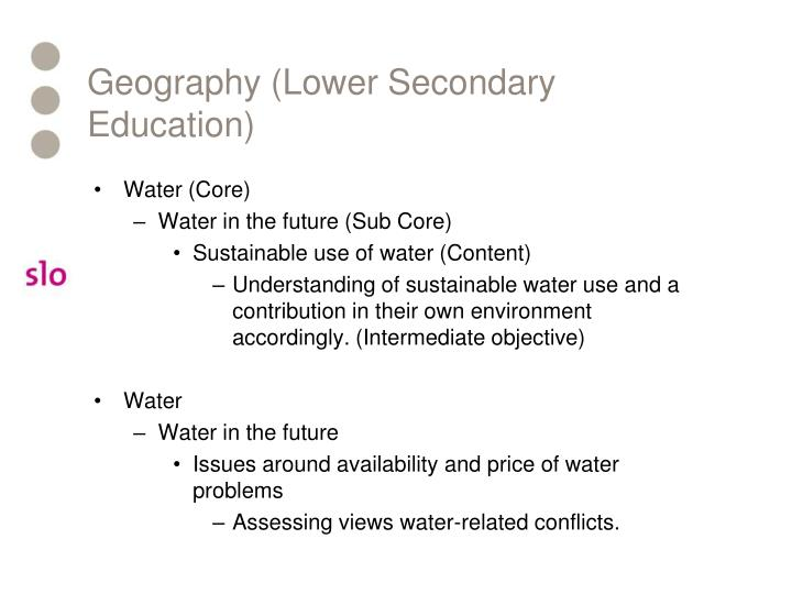 Geography (Lower Secondary Education)