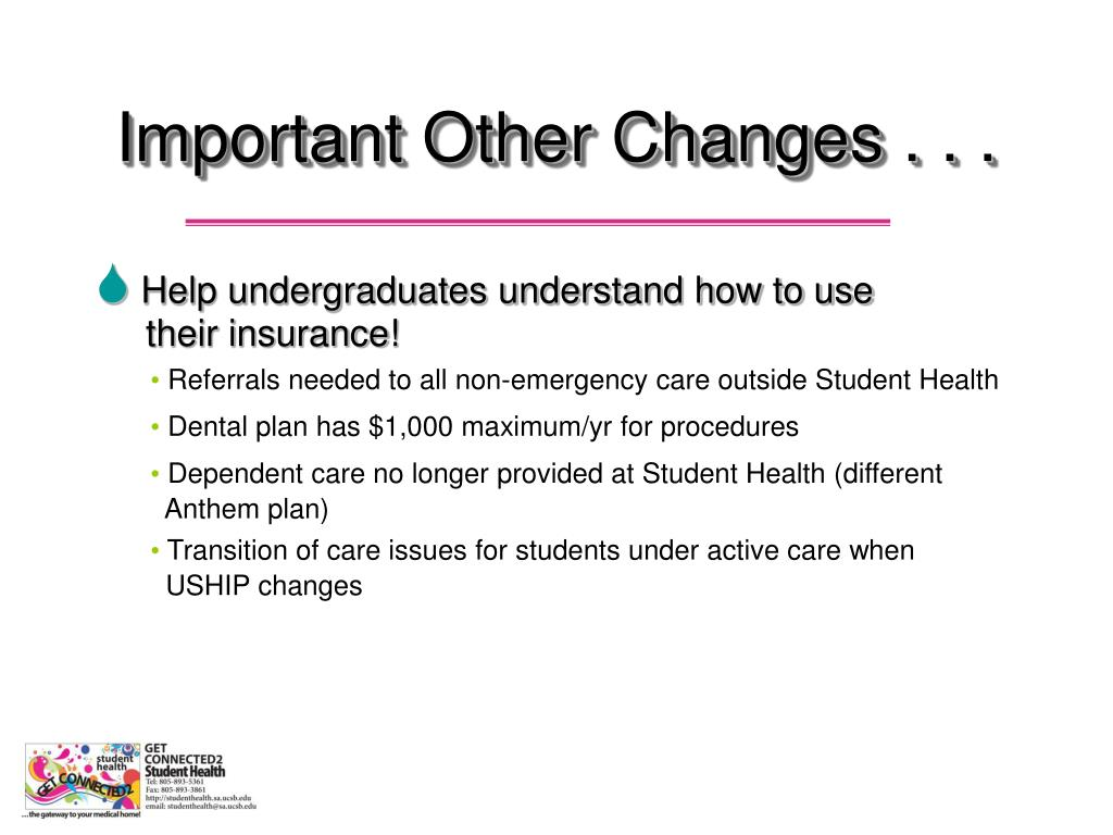 Important Other Changes . . .