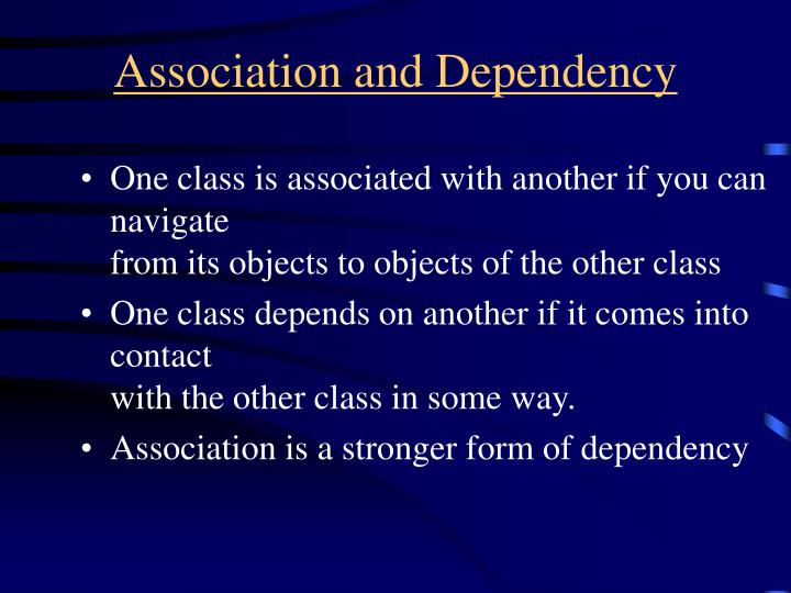 Association and Dependency